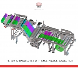 The new ShrinkWrapper with simultaneous double film